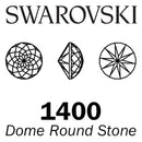 SWAROVSKI  Wholesale Dome Round Stone 1400 White Opal - Factory Pack