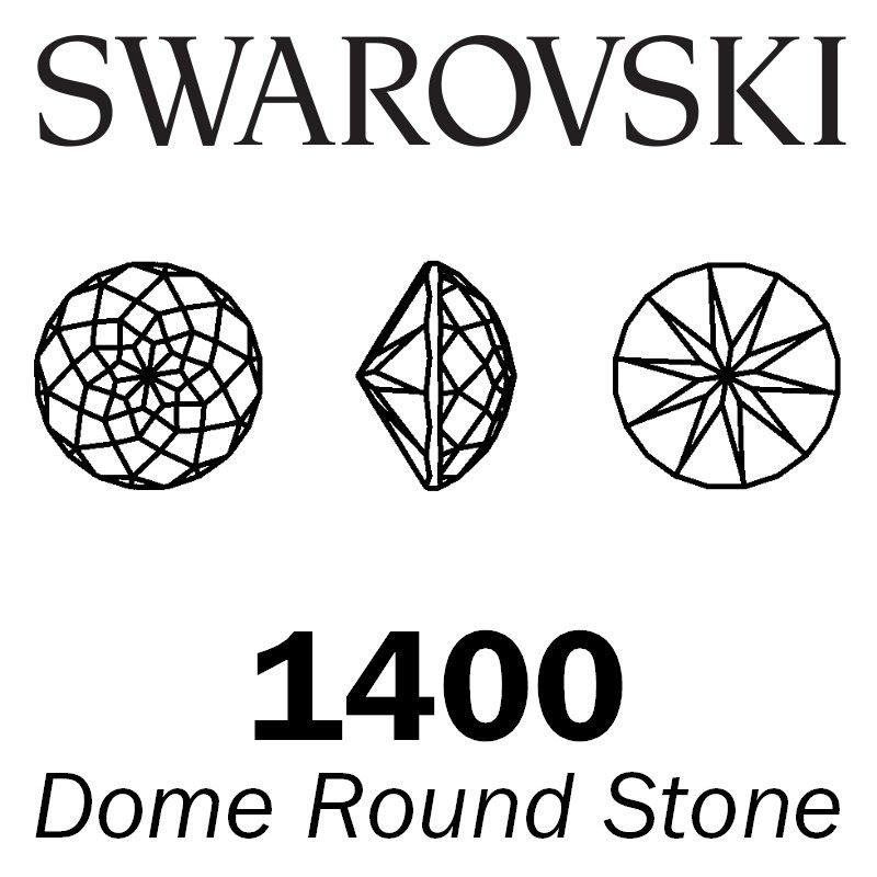 SWAROVSKI  Wholesale Dome Round Stone 1400 Crystal Bermuda Blue - Factory Pack