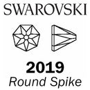 SWAROVSKI  Wholesale Rhinestone Flatback HOTFIX Round Spike 2019 Light Topaz Shimmer - Factory Pack