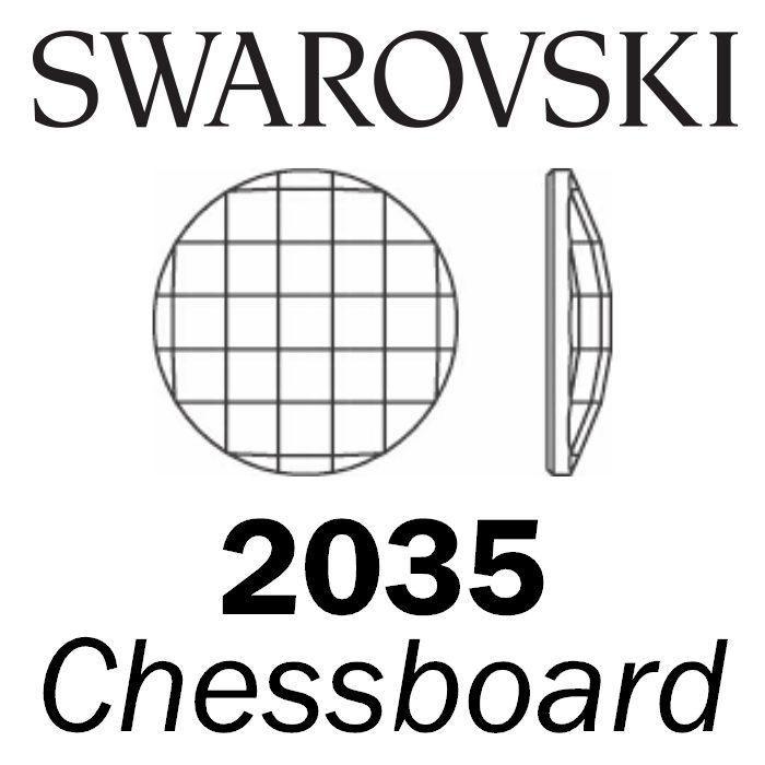 SWAROVSKI Wholesale Rhinestone Flatback NO HOTFIX Chessboard 2035 Crystal Golden Shadow - Factory Pack