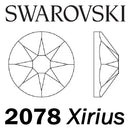 SWAROVSKI  Wholesale Rhinestone Flatback HOTFIX Xirius Rose 2078 Crystal Light Chrome - Factory Pack