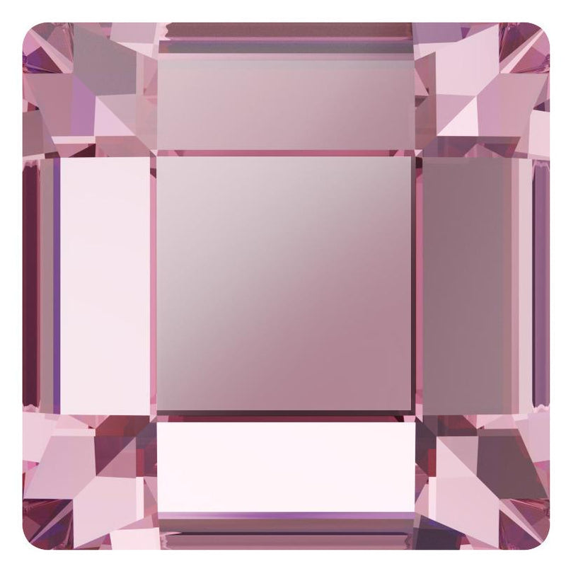 SWAROVSKI Rhinestone Square 2400 Flatback Light Rose
