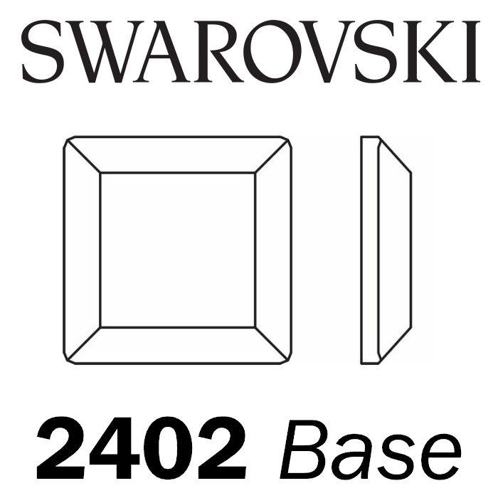 SWAROVSKI  Wholesale Rhinestone Flatback HOTFIX Base 2402 Crystal Light Chrome - Factory Pack
