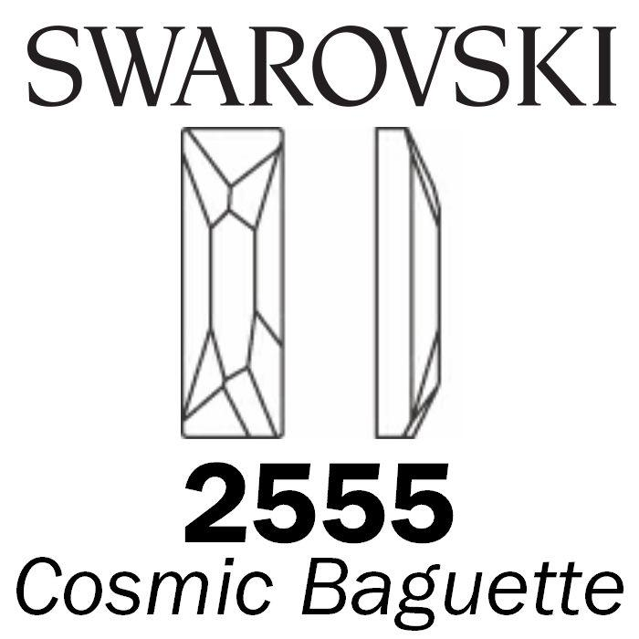 SWAROVSKI Wholesale Rhinestone Flatback NO HOTFIX Cosmic Baguette 2555 Crystal Golden Shadow - Factory Pack