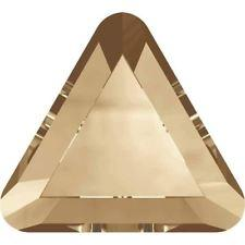SWAROVSKI Rhinestone Triangle 2711 Flatback Crystal Golden Shadow