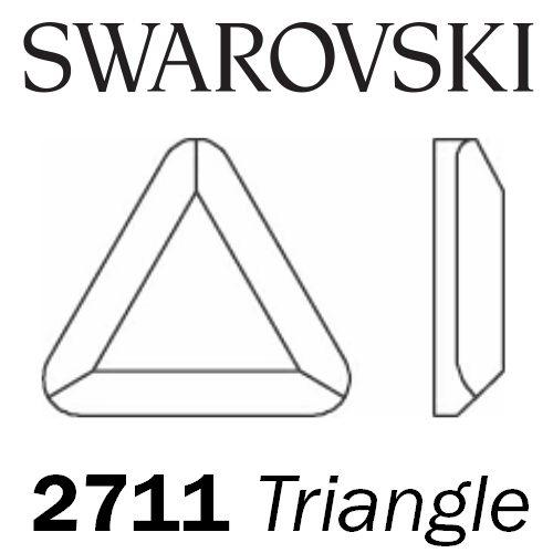 SWAROVSKI  Wholesale Rhinestone Flatback HOTFIX Triangle 2711 Aquamarine - Factory Pack