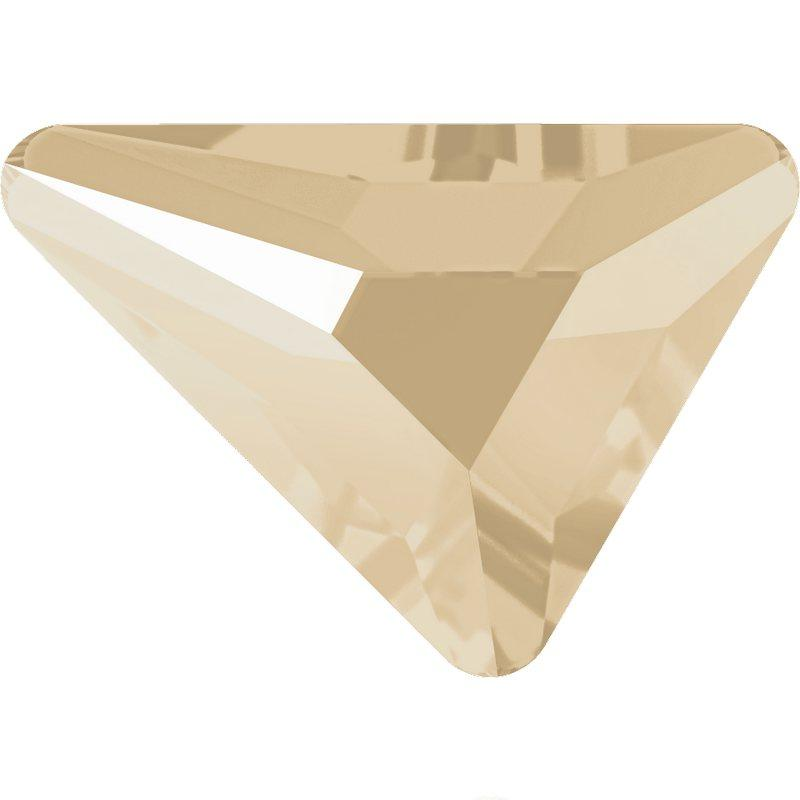 SWAROVSKI Rhinestone Triangle Beta 2739 Flatback Crystal Ivory Cream (Unfoiled)