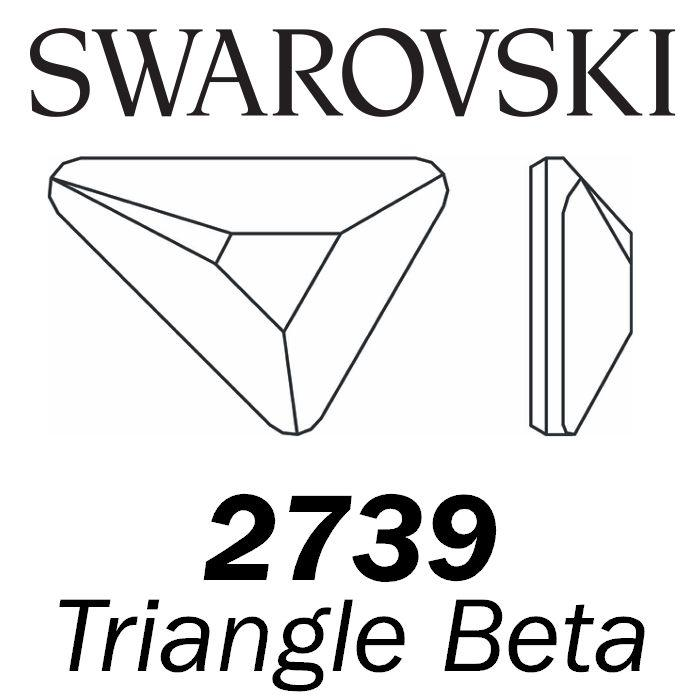 SWAROVSKI  Wholesale Rhinestone Flatback HOTFIX Triangle Beta 2739 Crystal Ivory Cream (Unfoiled) - Factory Pack