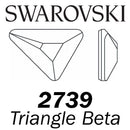 SWAROVSKI  Wholesale Rhinestone Flatback HOTFIX Triangle Beta 2739  Crystal - Factory Pack