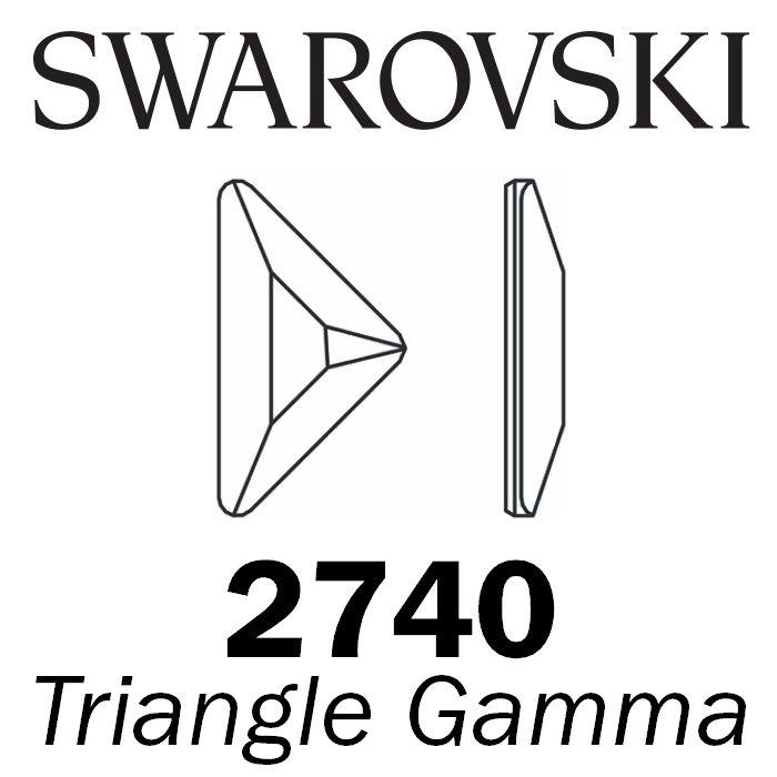 SWAROVSKI  Wholesale Rhinestone Flatback HOTFIX Triangle Gamma 2740 Light Sapphire - Factory Pack