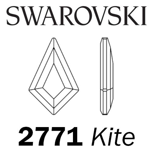 SWAROVSKI  Wholesale Rhinestone Flatback HOTFIX Kite 2771 Light Rose - Factory Pack