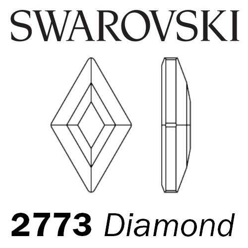 SWAROVSKI  Wholesale Rhinestone Flatback HOTFIX Diamond 2773 Black Diamond - Factory Pack