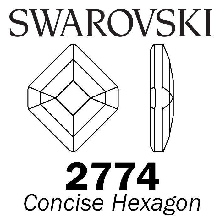SWAROVSKI  Wholesale Rhinestone Flatback HOTFIX Concise Hexagon 2777  Crystal AB - Factory Pack