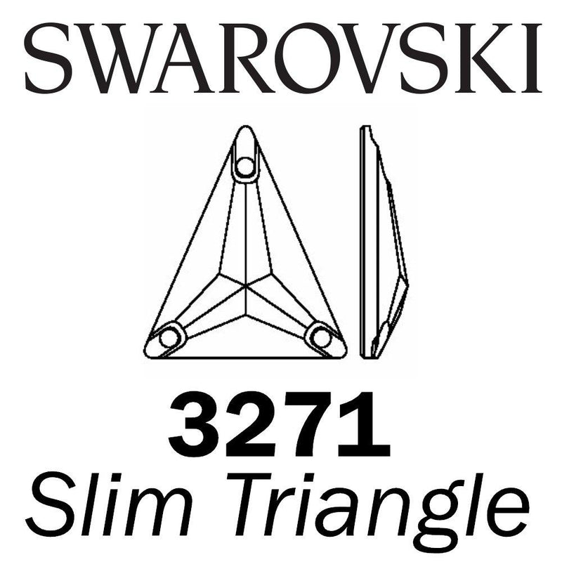 SWAROVSKI Wholesale Sew on Rhinestone - Slim Triangle 3271 -  Crystal AB - Factory Pack