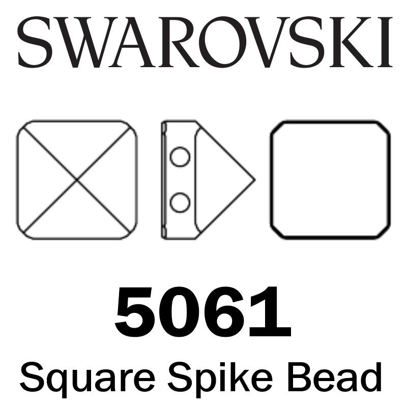 SWAROVSKI  Wholesale Beads 5061 Square Spike - Crystal Blue Shade - Factory Pack
