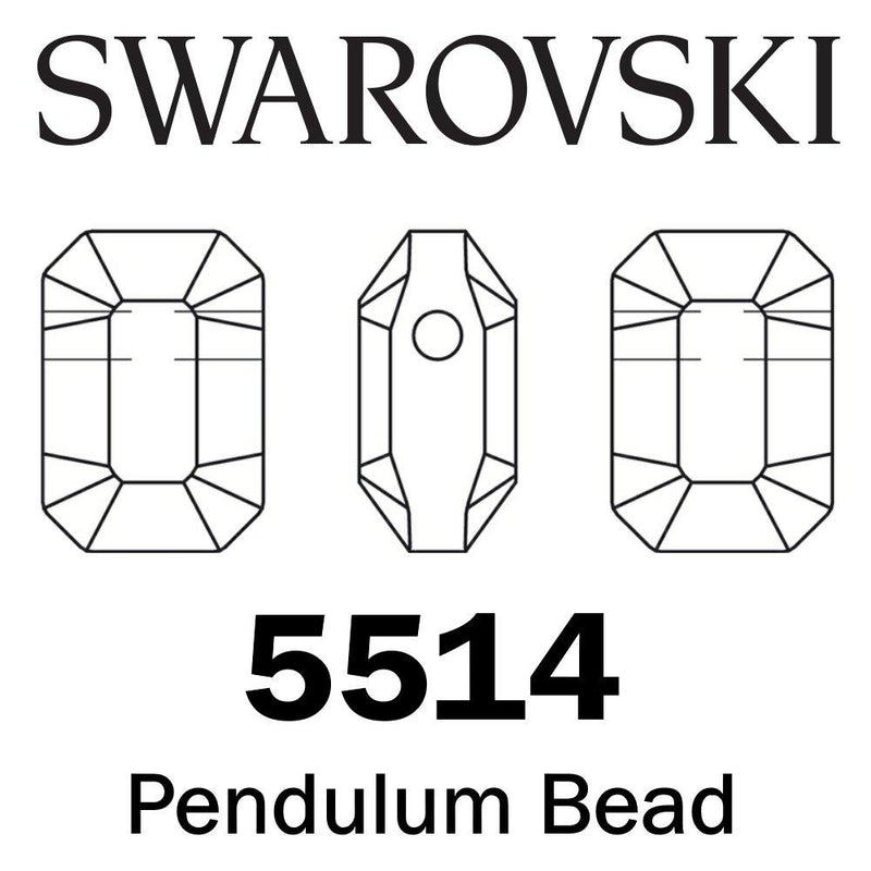 SWAROVSKI  Wholesale Beads 5514 Pendulum - Jet - Factory Pack