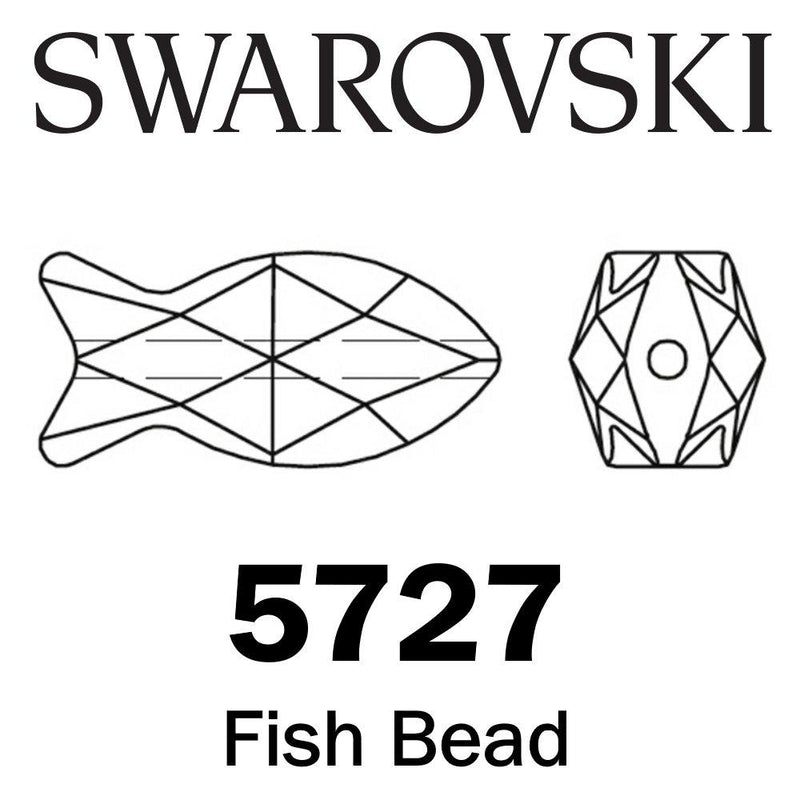 SWAROVSKI  Wholesale Beads 5727 Fish - Crystal Golden Shadow - Factory Pack