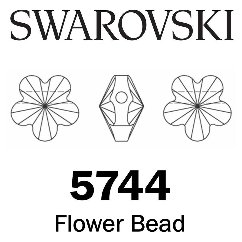 SWAROVSKI  Wholesale Beads 5744 Flower -  Crystal AB - Factory Pack