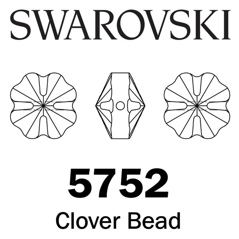 SWAROVSKI  Wholesale Beads 5752 Clover - Peridot - Factory Pack