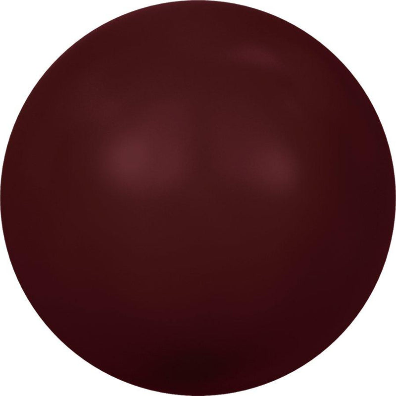 SWAROVSKI 5810 Round-Drilled Crystal Bordeaux Pearl