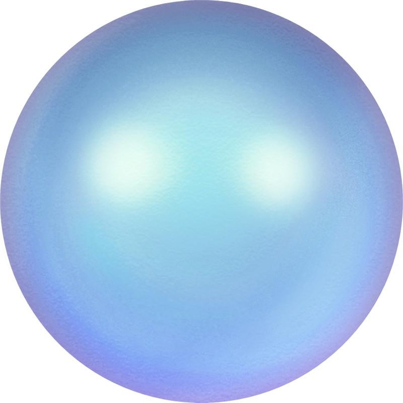 SWAROVSKI 5810 Round-Drilled Crystal Iridescent Light Blue Pearl