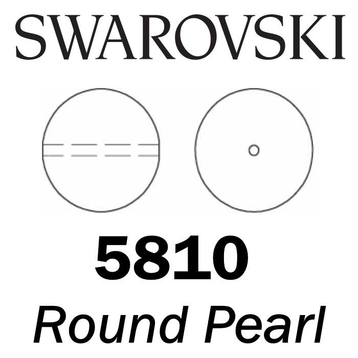 SWAROVSKI Wholesale Pearls 5810 Round-Drilled - Crystal Powder Almond Pearl - Factory Pack