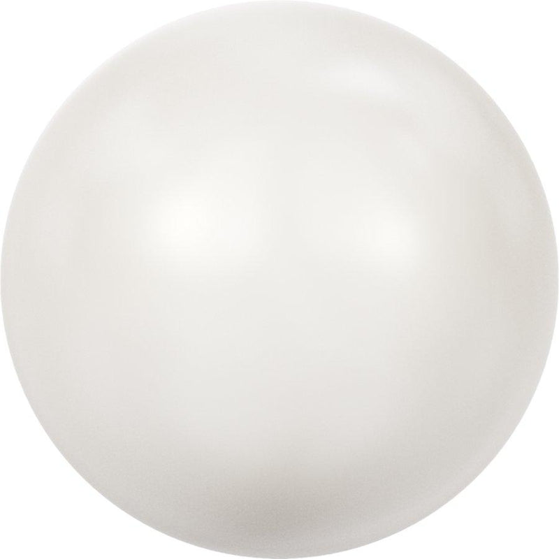 SWAROVSKI 5811 Round-Drilled Large Hole Crystal White Pearl