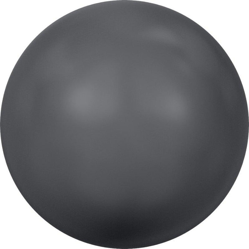 SWAROVSKI 5818 Round Half-Drilled   Crystal Dark Grey Pearl