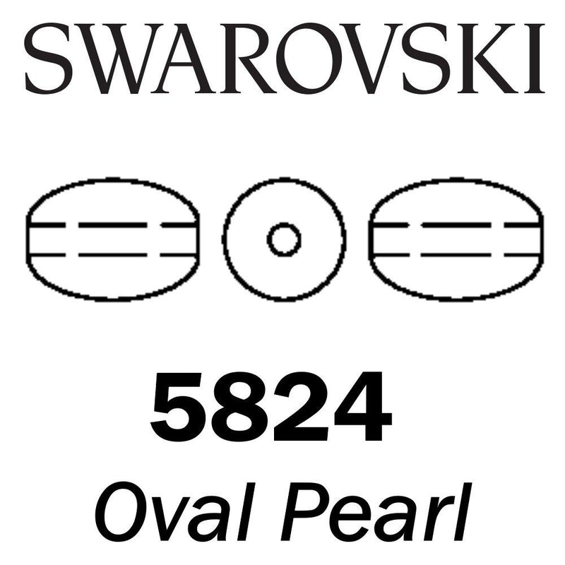 SWAROVSKI Wholesale Pearls 5824 Oval  - Crystal Dark Grey Pearl - Factory Pack