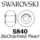 SWAROVSKI Wholesale Pearls 5890 BeCharmed  - Crystal Iridescent Red PRL STEEL - Factory Pack