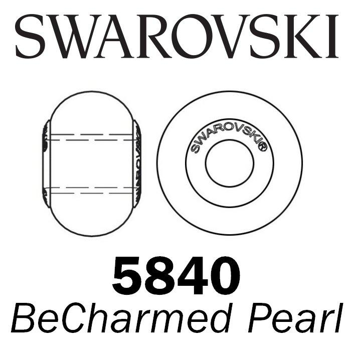 SWAROVSKI Wholesale Pearls 5890 BeCharmed  - Crystal Iridesc. Dk Blue PRL STEEL - Factory Pack
