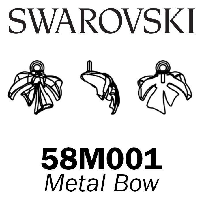 SWAROVSKI Wholesale Pearls 58M001 Metal Bow - Brass Metal Finish - Factory Pack