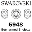 SWAROVSKI  Wholesale Beads 5948 Becharmed Briolette - Chrysolite - Factory Pack