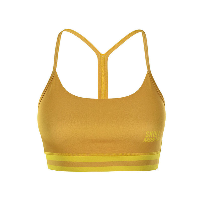yellow sports bra
