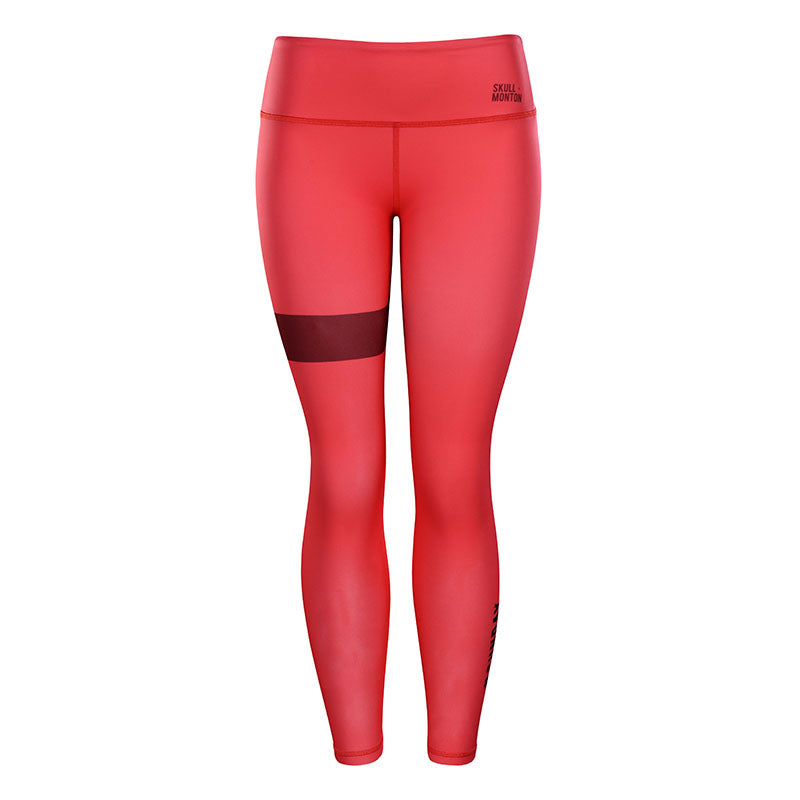 red high waisted yoga pants