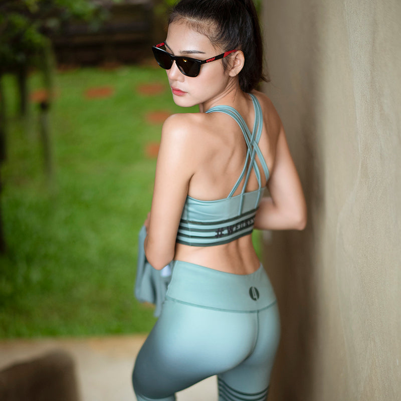 strappy yoga top