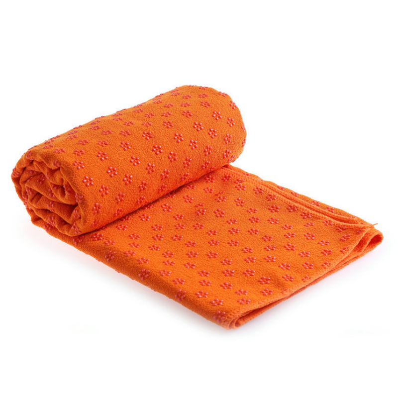 yoga towel with grip