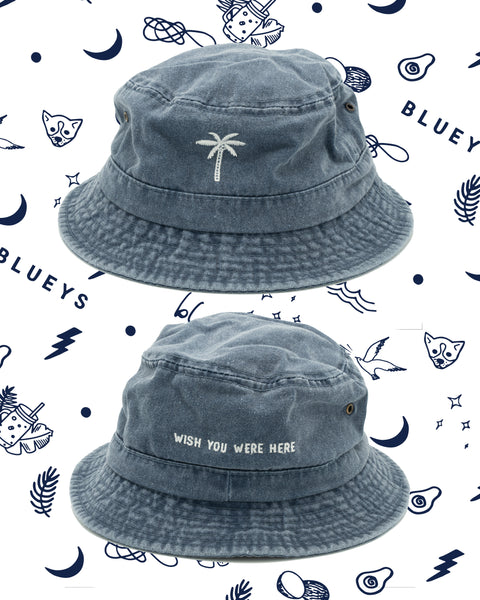 Blueys Washed Blue Bucket Hat