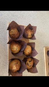 Chocolate chip muffins cake bag