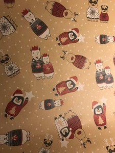 Christmas wrapping paper - kraft 5m