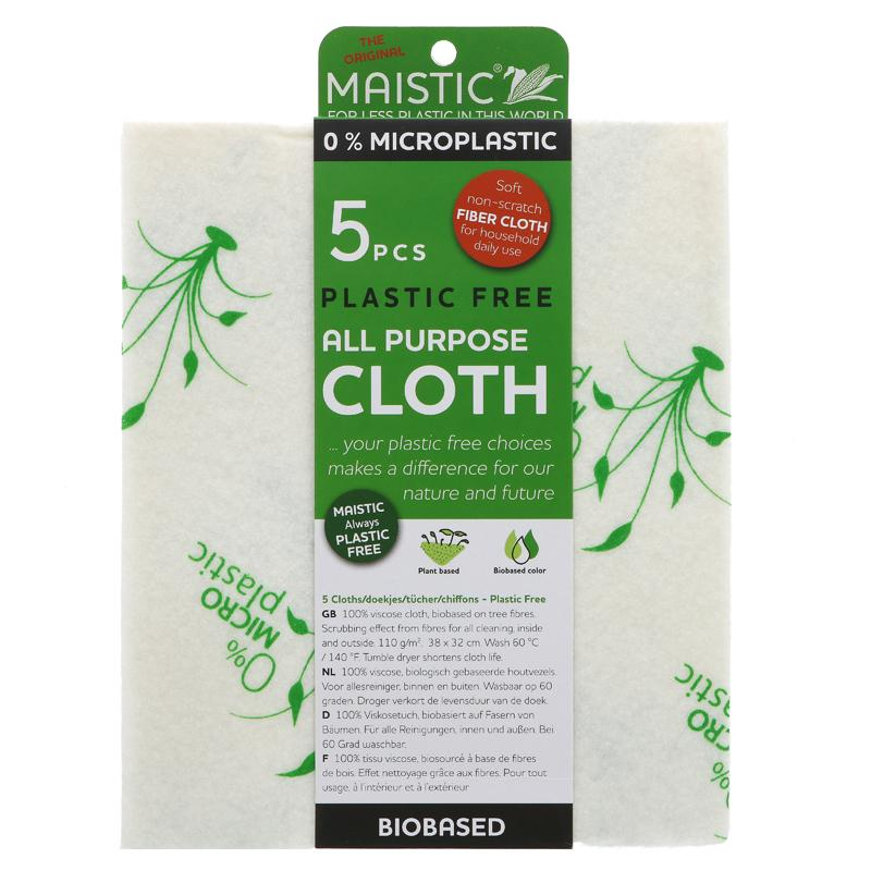 All purpose cloth 5 pack - plastic free