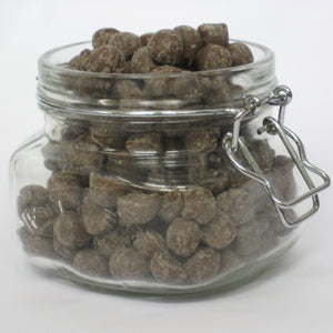 Chewing nuts (chocolate flavoured covered toffee)