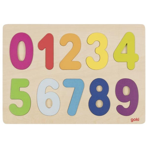 Goki Wooden Number Puzzle | Little Leaf Toy Shop Australia