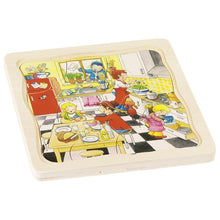Load image into Gallery viewer, Day in Life Kitchen Goki Wooden Layer Puzzle | Little Leaf Toy Shop Australia