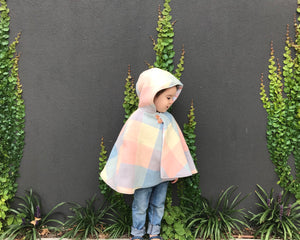 Wool Cape with Pixie Hood - Size 1 to 3 Years