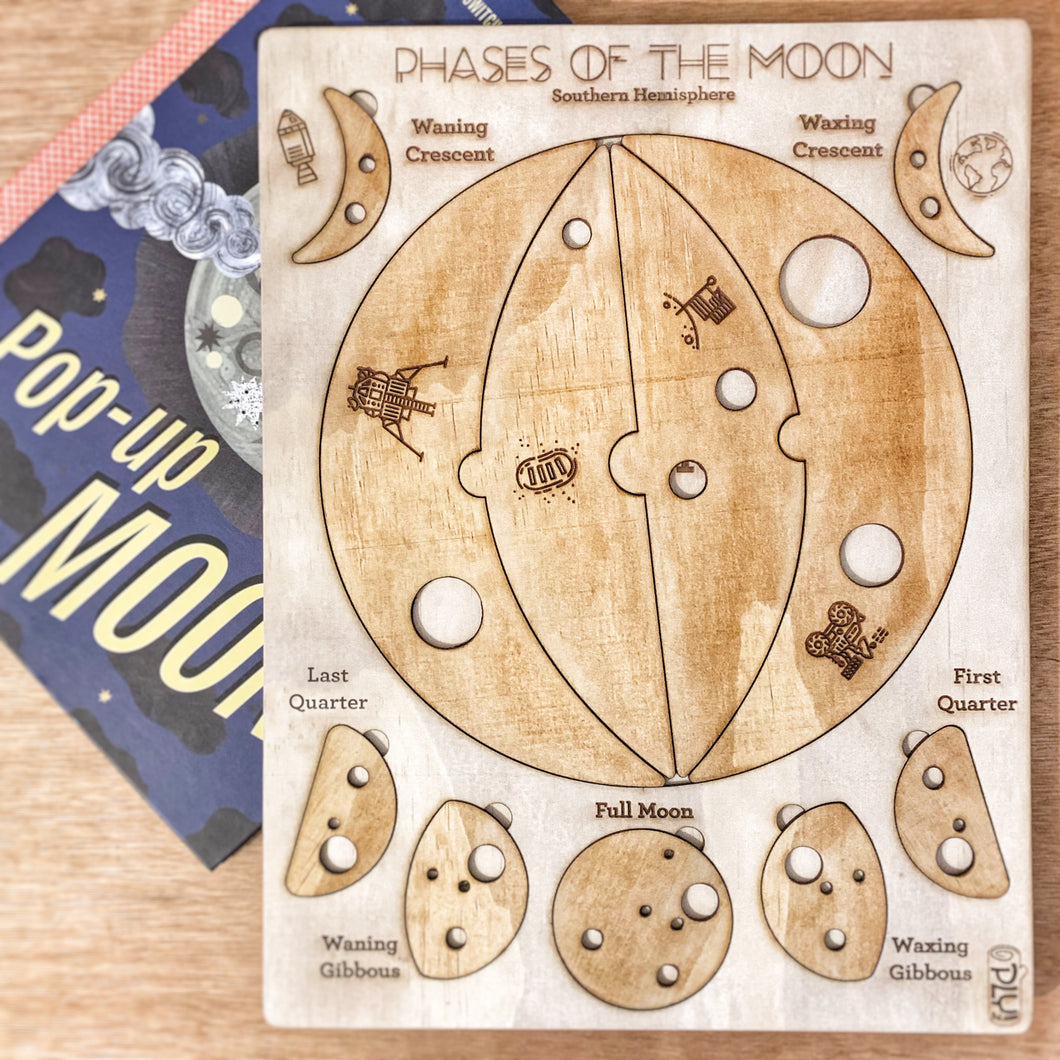 Phases of the Moon Puzzle, Southern Hemisphere