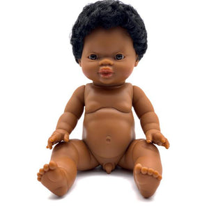 Aren - Paola Reina Gordis African Boy Doll With Short Hair
