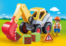 Load image into Gallery viewer, Playmobil 123 | Shovel Excavator