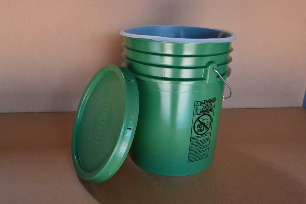 5 Gallon Polyethylene Container W/ Lid And Liner Waterborne Spray Gun Cleaner - Parts