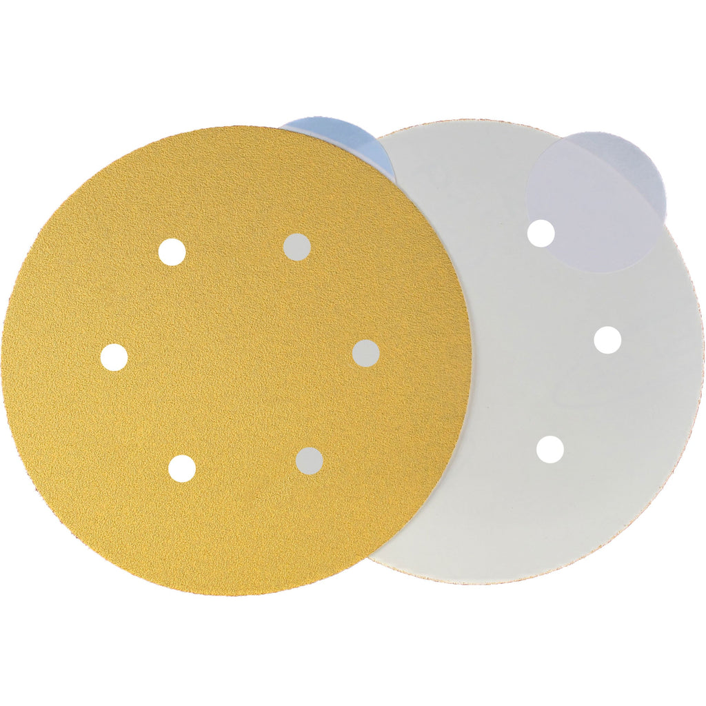 6 Surfprep Sandpaper Discs (Psa) 60 / Hole For Vacuum Sanders